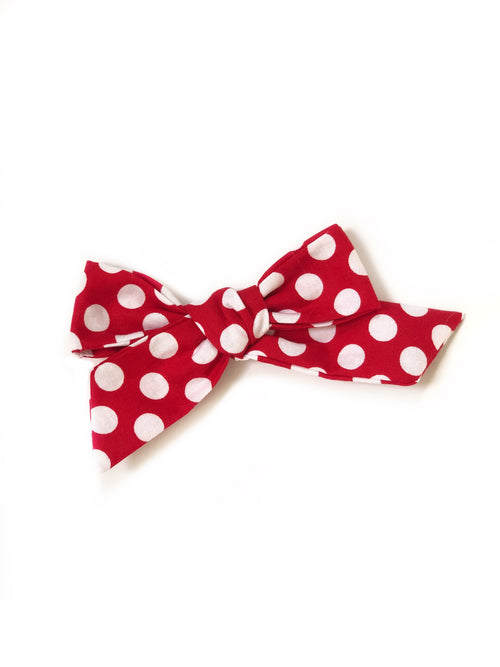 MINNIE MOUSE Red & White Polka Dots Lana Bow