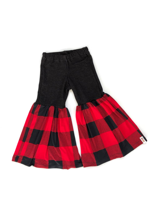 BUFFALO PLAID Bell Bottom Flares