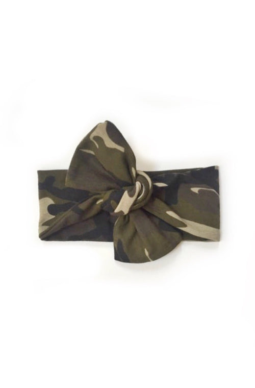 CAMO Top Knot Headwrap
