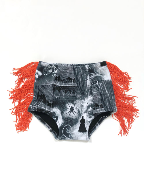ERIE NIGHTS + ORANGE FRINGE Hot Pants