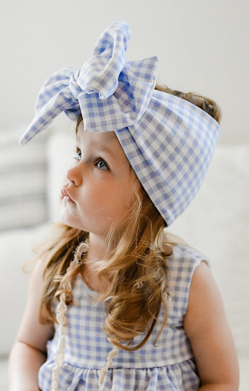 GINGHAM Bow Wrap