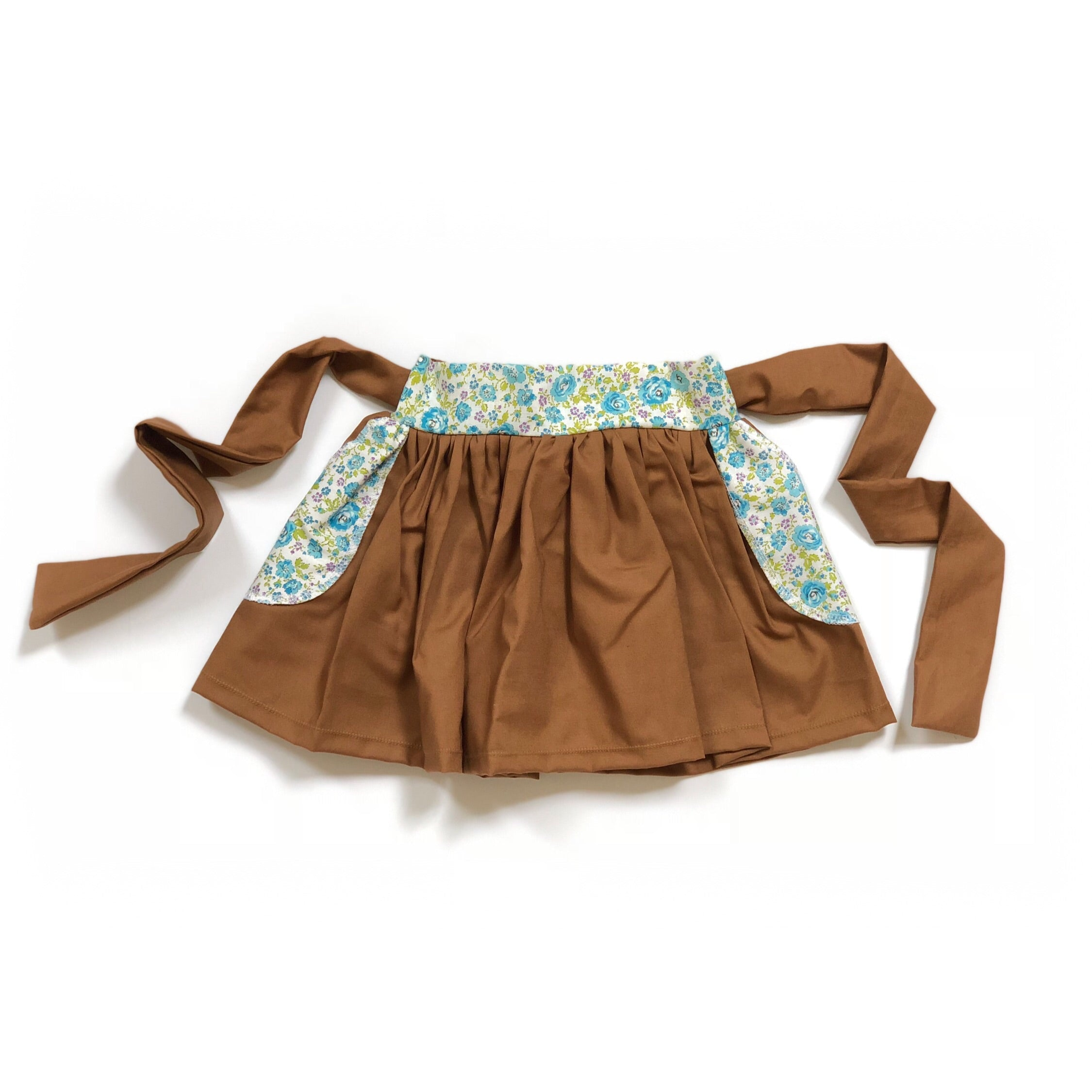 GOLDY BROWN & Vintage Floral High Waisted Bow Skirt