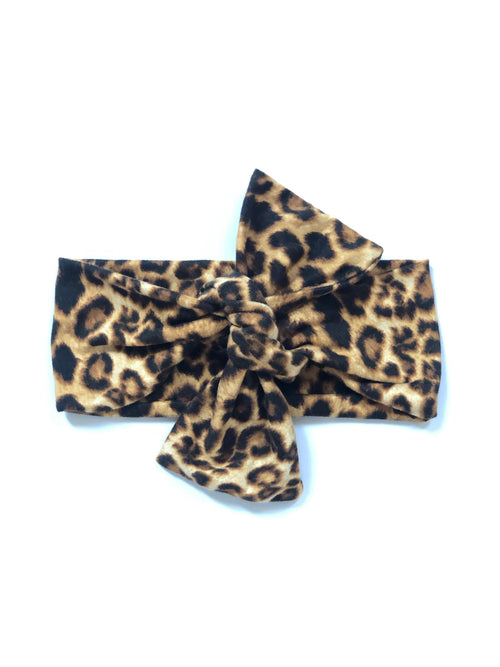 LEOPARD LOVE Top Knot Headwrap
