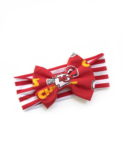 KANSAS CITY CHIEFS NFL Football Classic Bow Headband