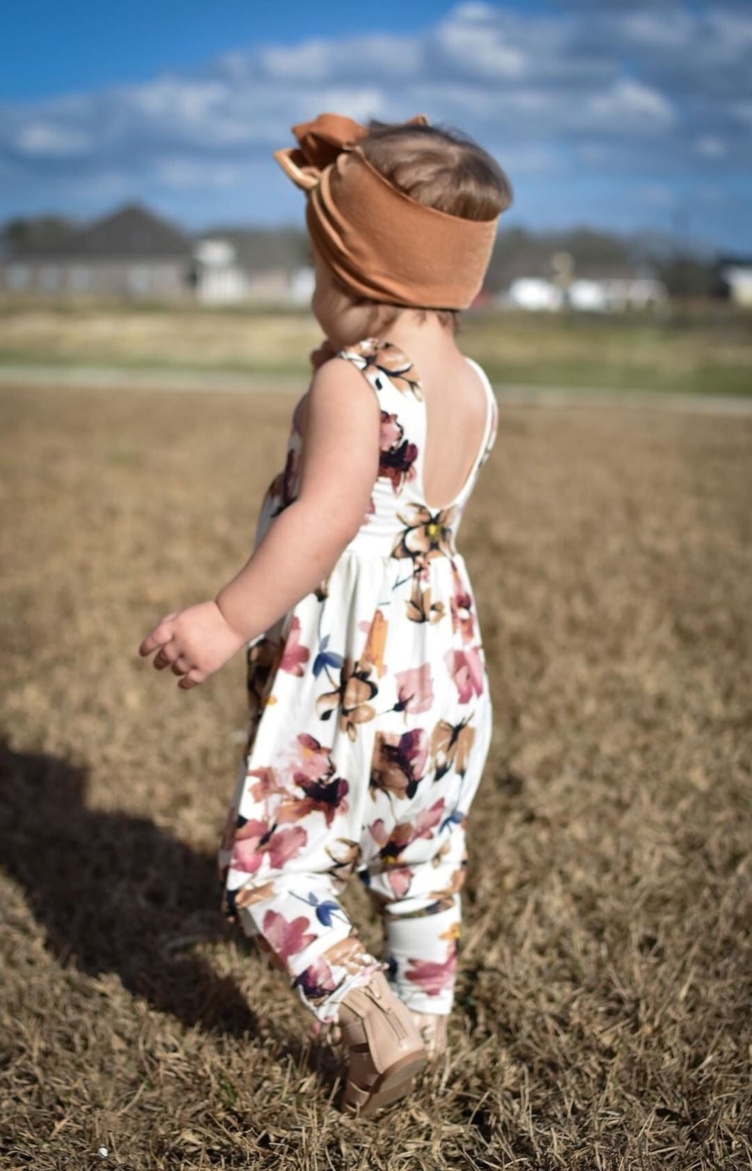 TAUPE FLORAL Cat Walk Sleeveless Romper