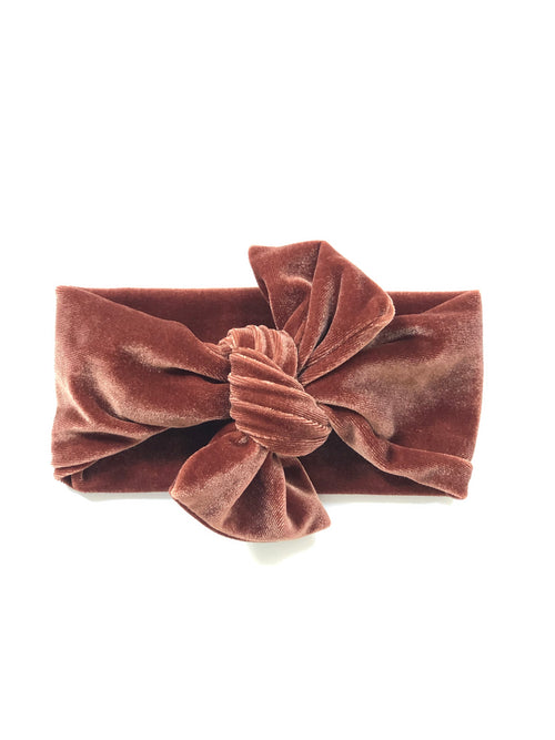 RUST VELVET Top Knot Headwrap