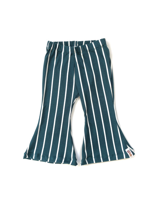 HUNTER GREEN Stripe Bell Bottoms