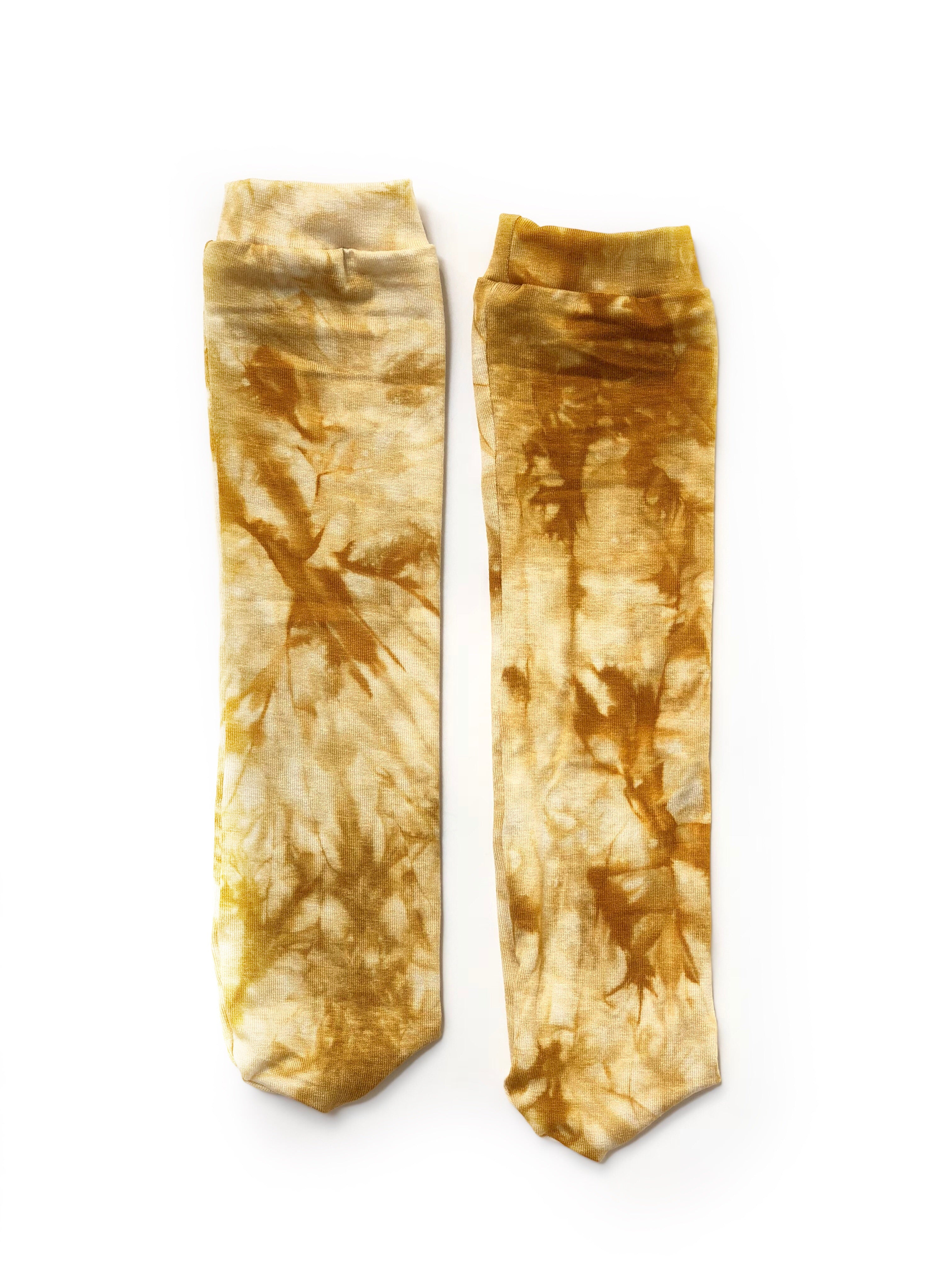 AMBER + IVORY Tie Dye Knee High Socks