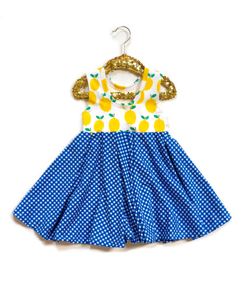 LEMONS + GINGHAM Twirl Dress