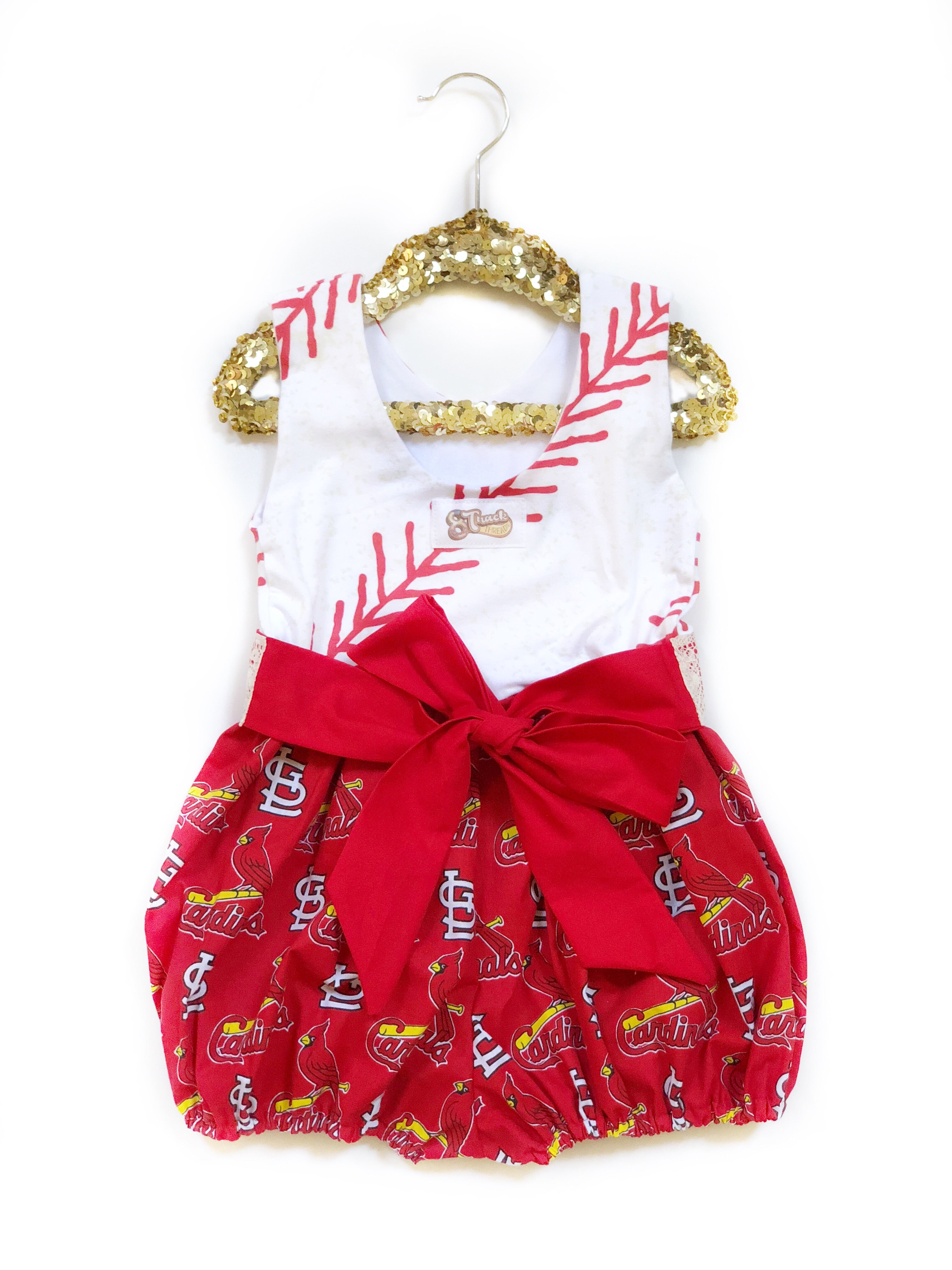 ST. LOUIS CARDINALS Baseball Bubble Romper