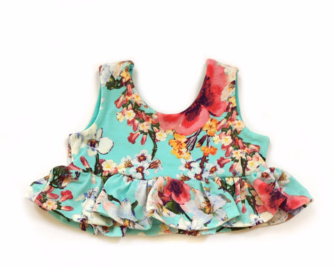 CHOOSE YOUR COLOR Flounce Crop Top