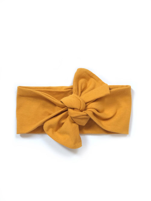 MUSTARD Top Knot Headwrap