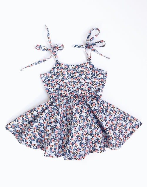 PERIWINKLE FLORAL Shortie Sundress