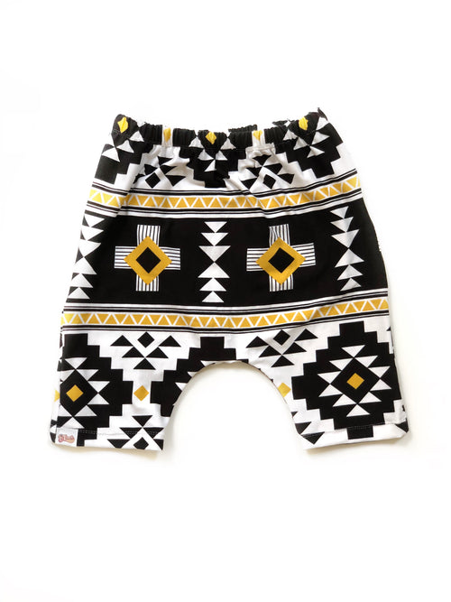 GOLDEN CHILD Long Harem Shorts
