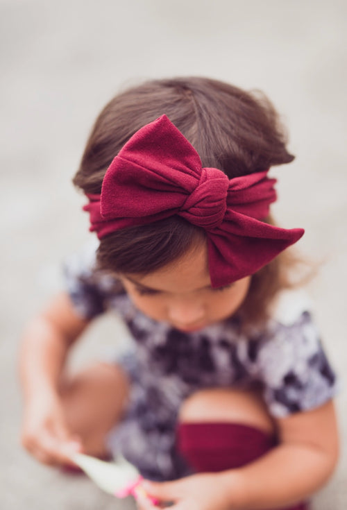 BURGUNDY Top Knot Headwrap