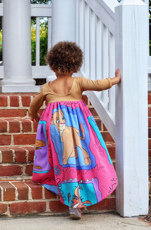 THE LION KING High Low Maxi Dress