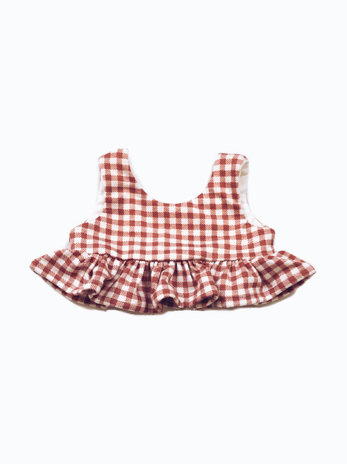 ROSE Gingham Peplum