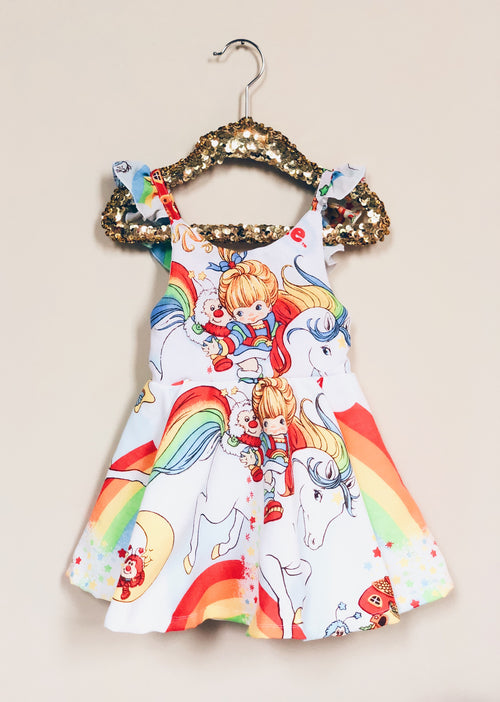 VINTAGE RAINBOW BRITE Tie-Back Sundress