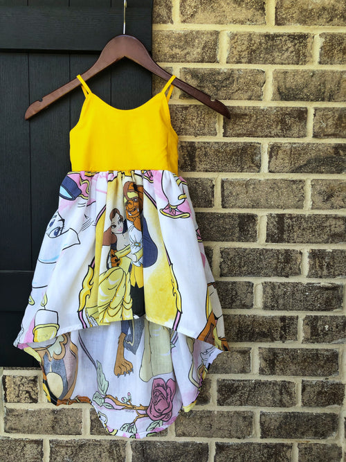 Vintage BEAUTY AND THE BEAST High Low Maxi Dress