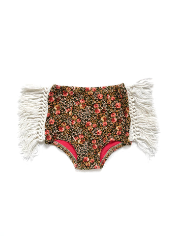 BURGUNDY Velvet + Vintage Lace Hot Pants