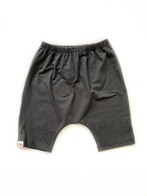 CHARCOAL GRAY Long Harem Shorts