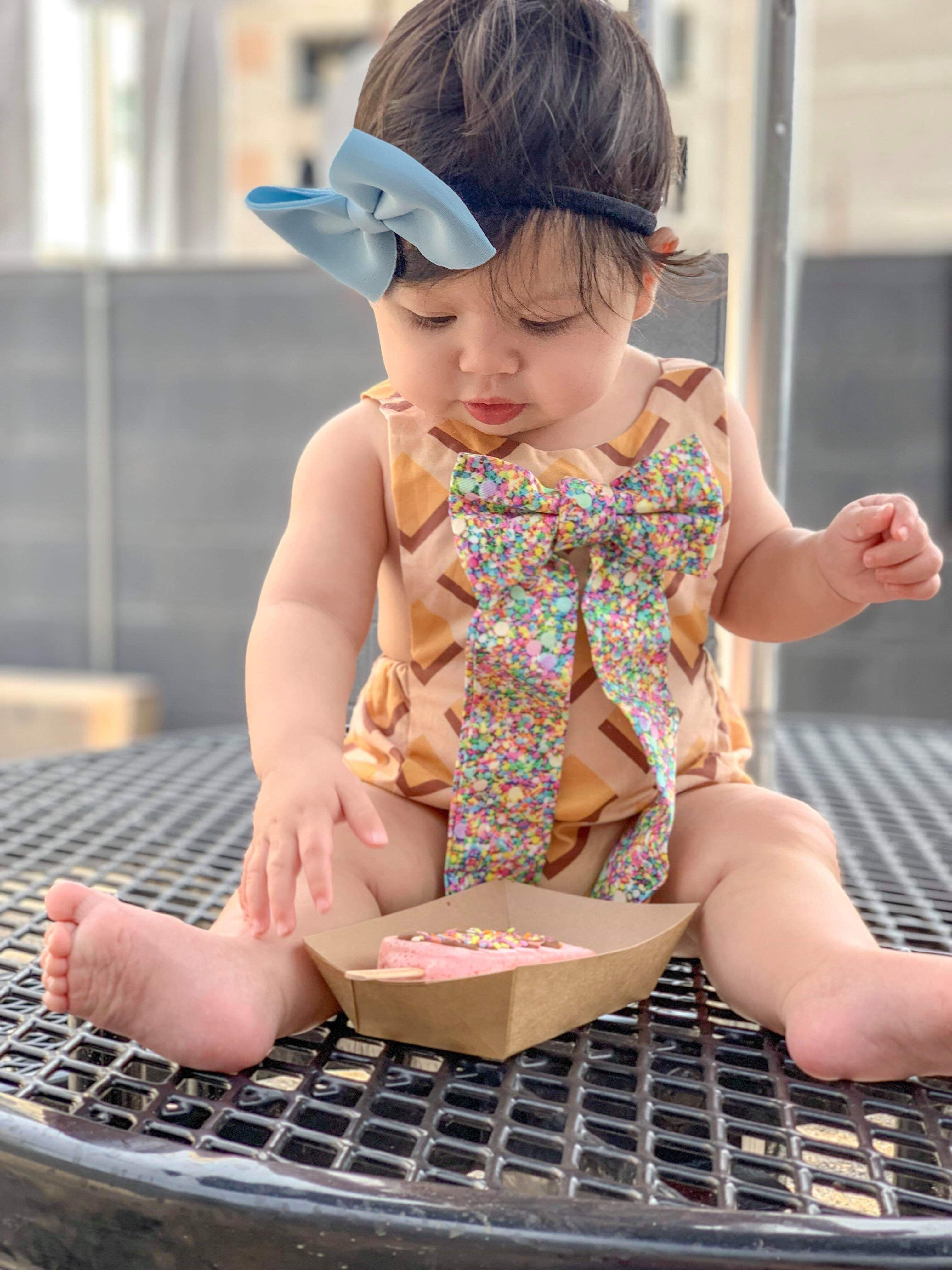 WAFFLE ICE CREAM CONE & SPRINKLES Romper