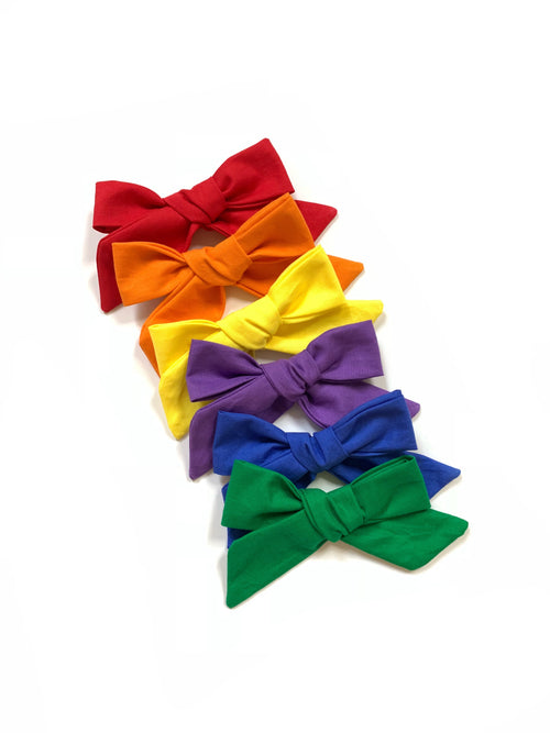 PRIMARY RAINBOW 6 Pack of Lana Bows