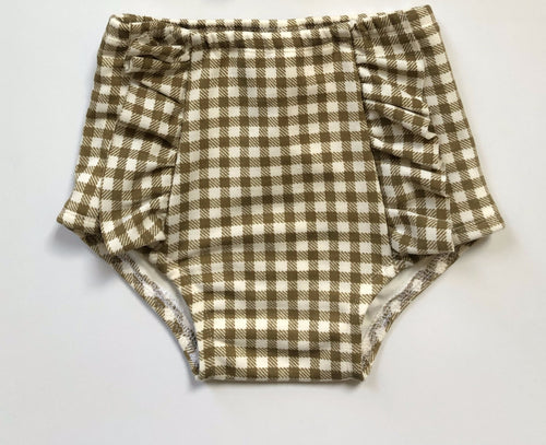 OLIVE Gingham Hot Pants