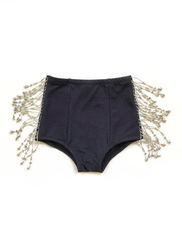 FRINGE LIGHT GOLD Velvet Hot Pants