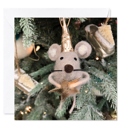 "5"" x 5"" Card- Christmas Mouse Card"