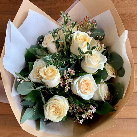 Soft Yellow Rose Bouquet