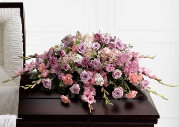 Pink and Mauve Casket Spray