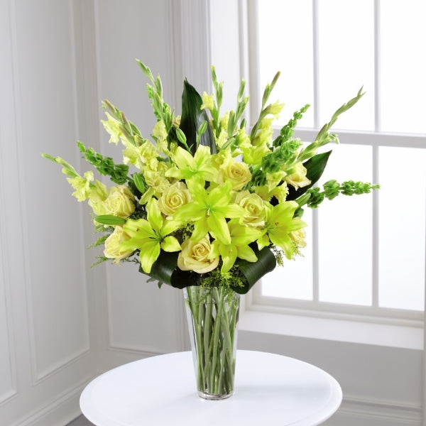 Yellow Vase Arrangement