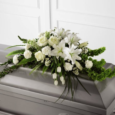 White Casket Spray (Small)