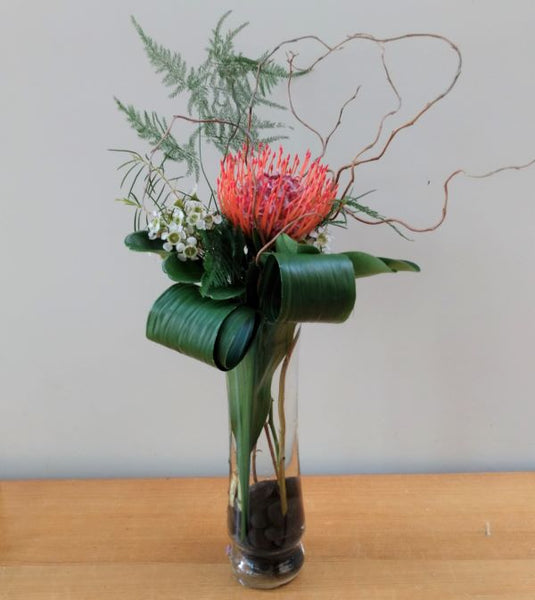 Pincushion Protea Budvase