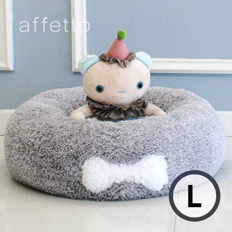 AFFETTO ORIGINAL DONUT BED GREY (L)