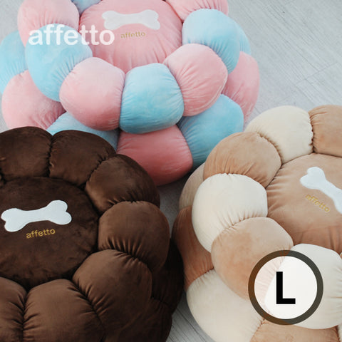 AFFETTO BONNY CHEWISTY DONUT BED BROWN/IVORY (L)