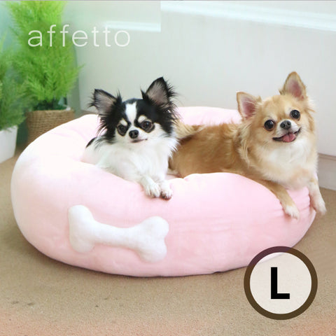 AFFETTO STANDARD DONUT BED PINK(L)