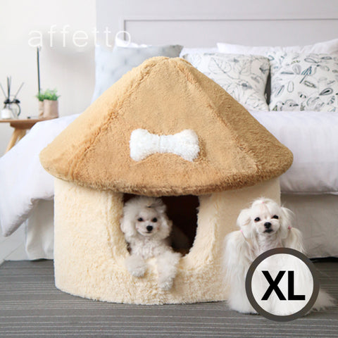 AFFETTO LUXURY MUSHROOM HOUSE BRWON/IVORY (XL)