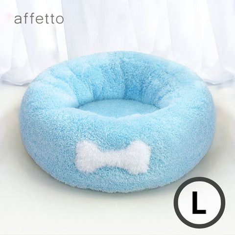 AFFETTO COOL DONUT BED SET BLUE (L)