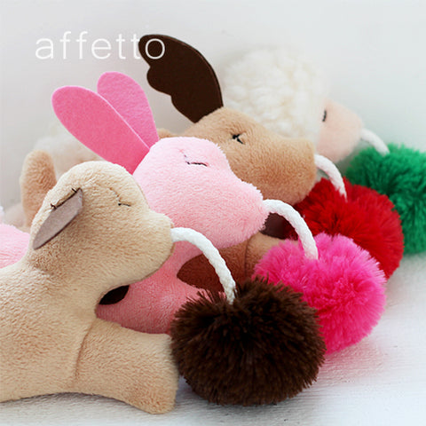 AFFETTO PET TOY SHEEP WITH BELL