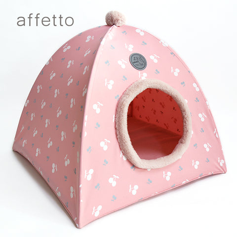AFFETTO CAT TENT CHERRY PINK