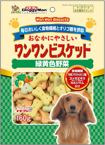 Bowwow Biscuit Green & Yellow Vegetable 160g