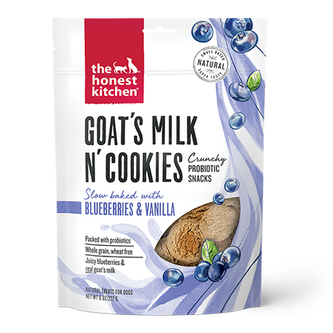 THE HONEST KITCHEN® GOAT'S MILK N' COOKIES BLUEBERRIES & VANILLA FOR DOGS 8 OZ