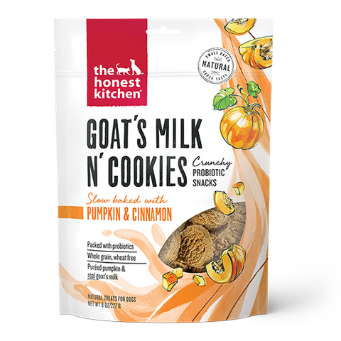 THE HONEST KITCHEN® GOAT'S MILK N' COOKIES PUMPKIN & CINNAMON FOR DOGS 8 OZ