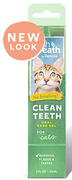 TropiClean Clean Teeth Oral Care Gel for Cats 2oz