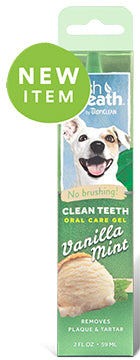 TropiClean Clean Teeth Oral Care Gel Vanilla Mint 2oz