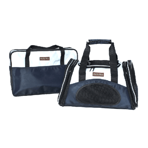 One for Pets The One Bag Expandable Carrier - Navy - Small