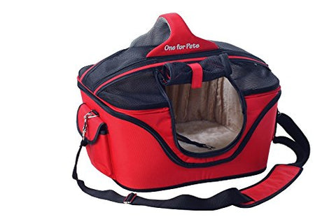 One for Pets The Deluxe Cozy Pet Carrier - Red - Small