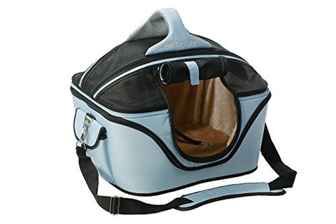 One for Pets The Deluxe Cozy Pet Carrier - Powder Blue - Small